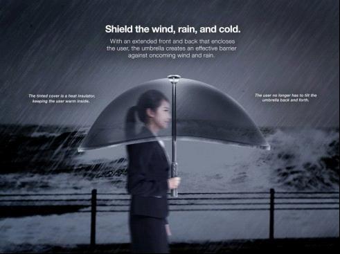 Opblaasbare paraplu schild lucht paraplu ontwerper kevin lee - Paraplu balances ...