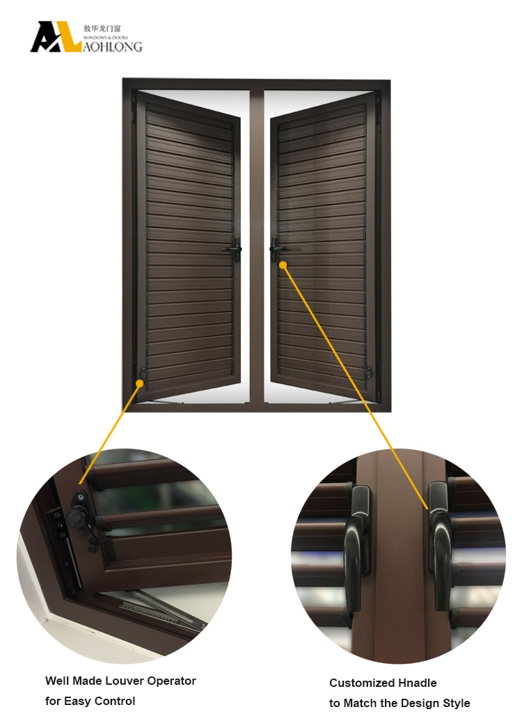 필수적인 자석 운영 롤링 셔터 나무 곡물 UPVC 커튼 창 - Aohlong ...