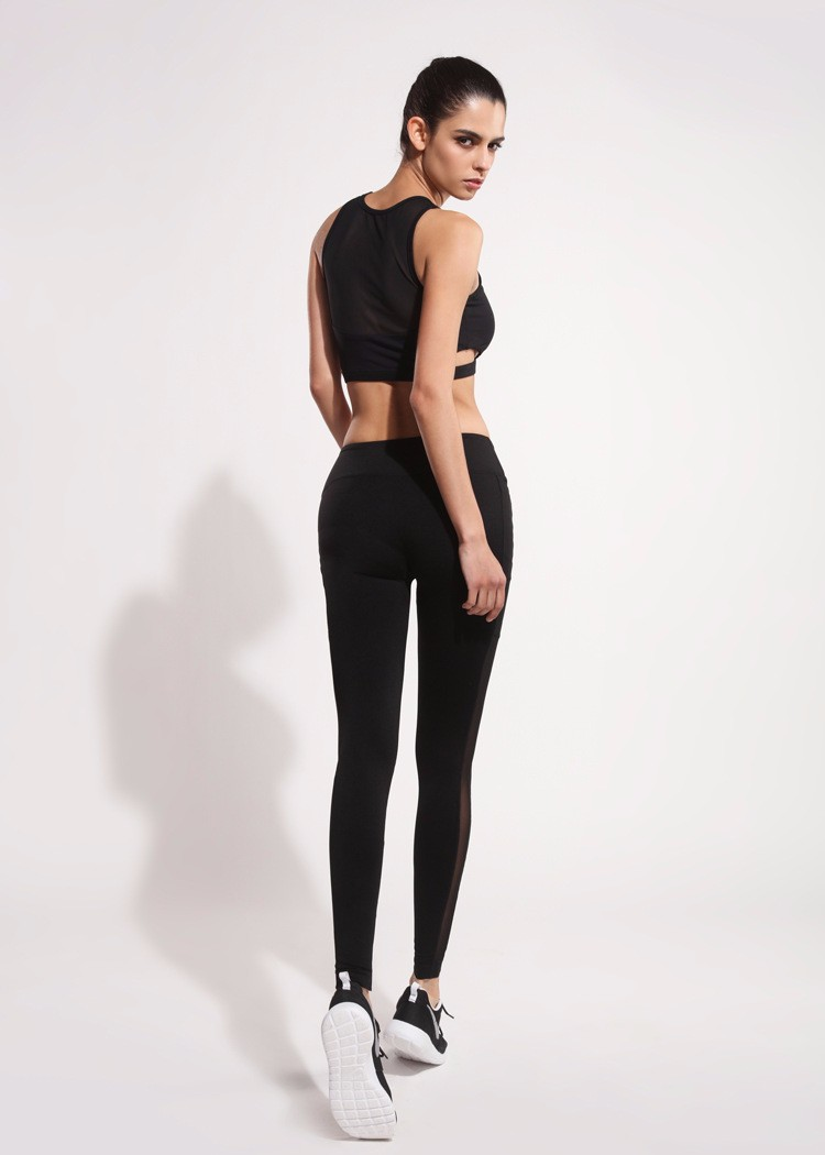 mesh yoga pants womens procket private label wide leg iphone yoga pants