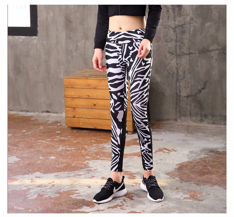 Brazilian new fashion OEM leopard teeki mesh wholesale yoga pants