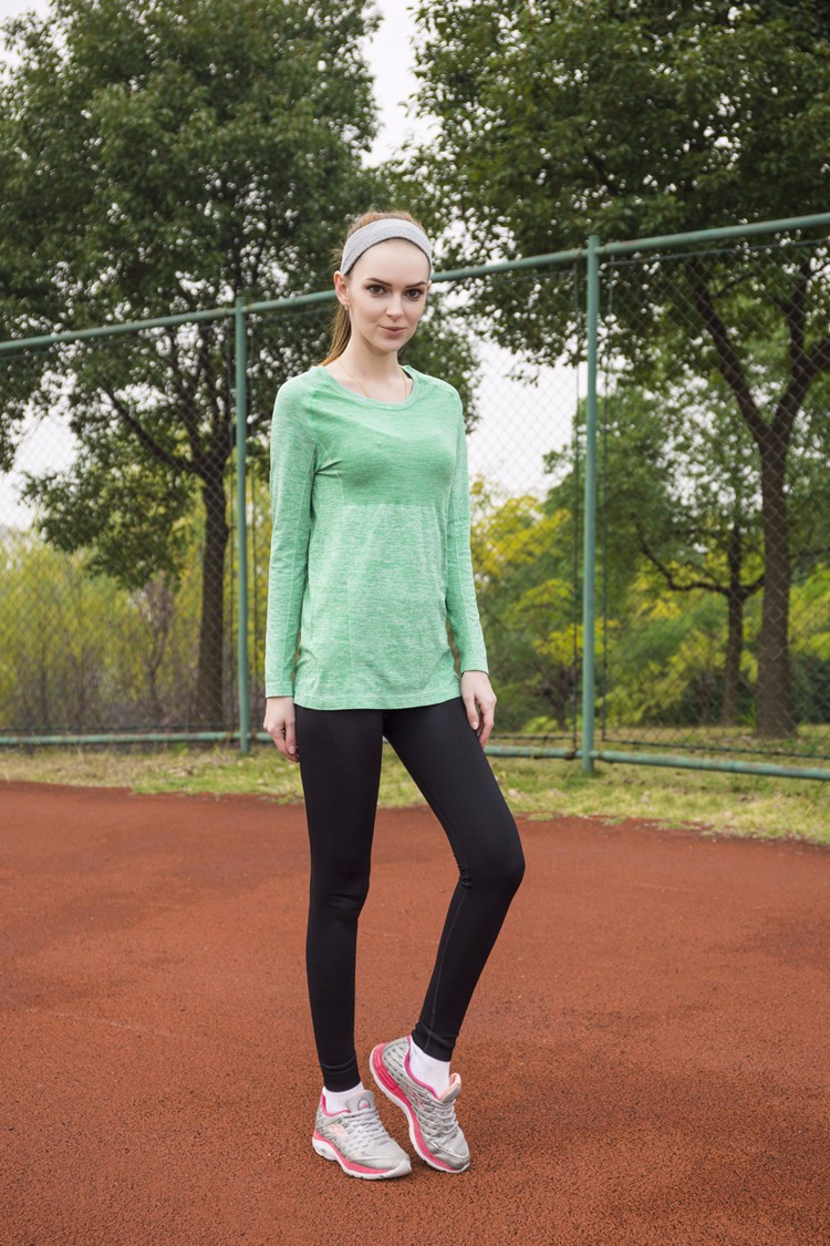 2017 new design spring fall hot sell yoga attire long sleeve t-shirts Breathable wicking Quick Dry sport wear, running yoga tops