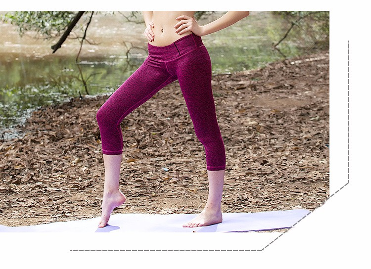 Fashion Tight cheap unique yoga pants wholesale Cropped Trousers short yoga pants