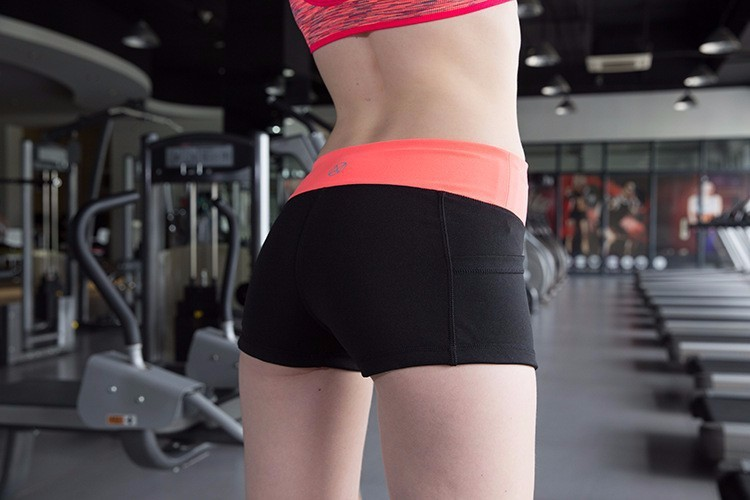 Sexy Women Tight Colorful Waist Yoga Short Gym running Girls Wearing Training Yoga Pants