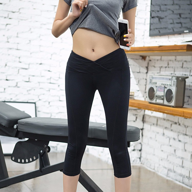 women yoga pants quick dry power flex black and gray wholesale sexy fitness custom leggings