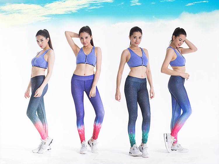 girls wearing yoga pants breathable stitching hot transfer prints new arrival yoga pants