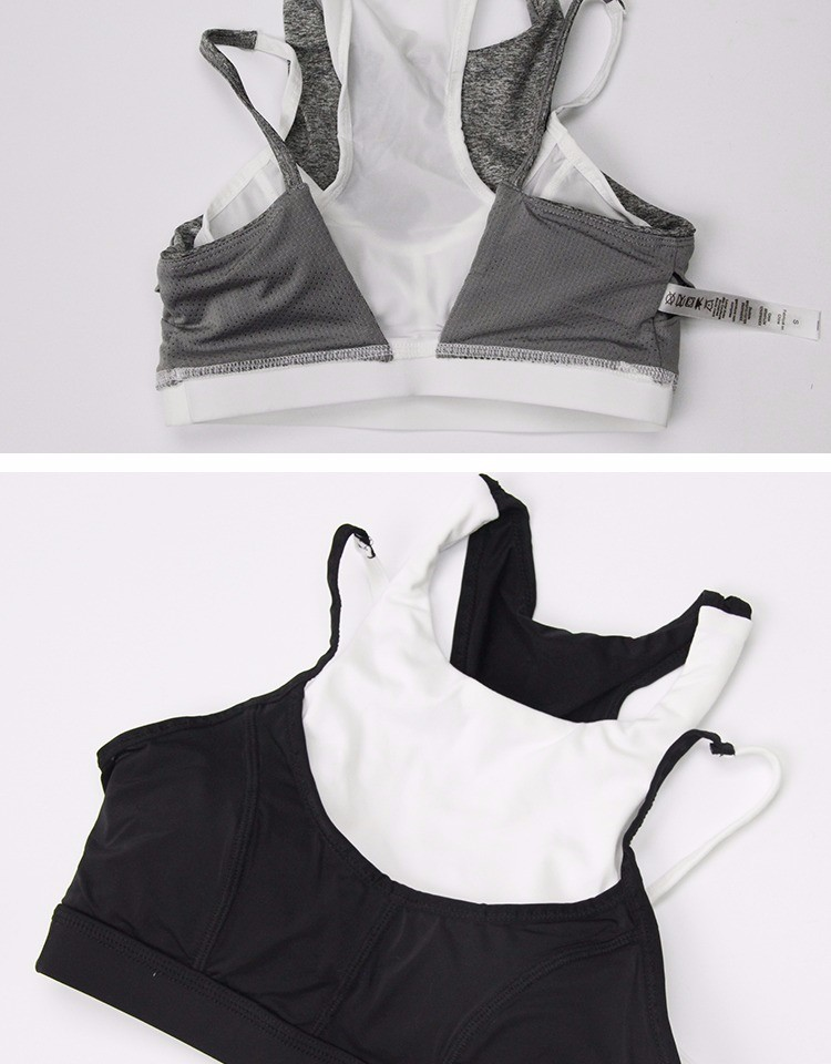 Women Yoga Sports Ahh Bra with Pads Gray And White Bra Wholesale