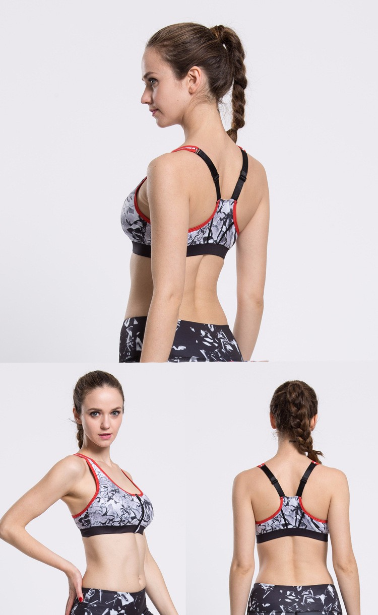 yoga bra top women sexy printed disposable sports tank high quality vest