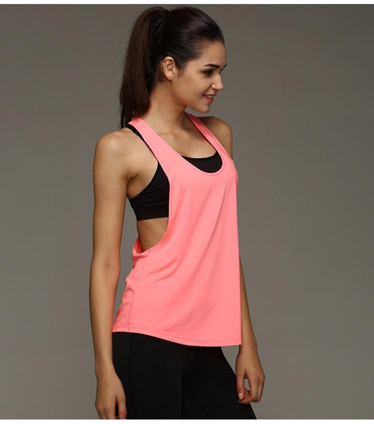 OEM women sports wears herringbone vest fitness yoga tank top racerback