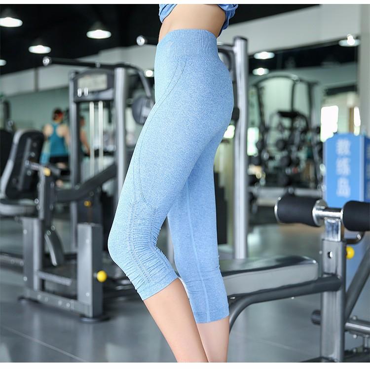 Colorful capri pants fashion new design polyester spandex yoga pants womens