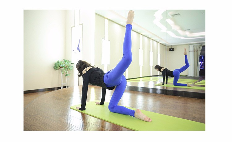 Yoga pants for women blue and purple sexy tights fashionable sports wear running pants
