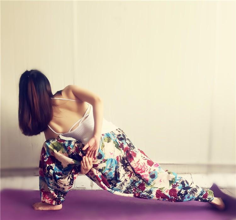Loose yoga pants women clothing sportwear printed yoga pants