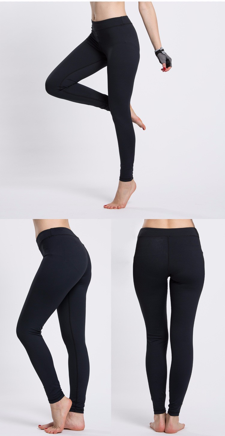 Hot sale black fitness yoga pants leggings high quality yoga pants wholesale