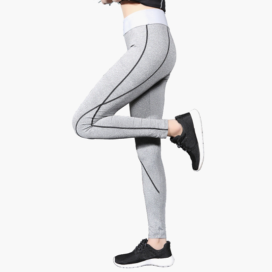 gray yoga pants