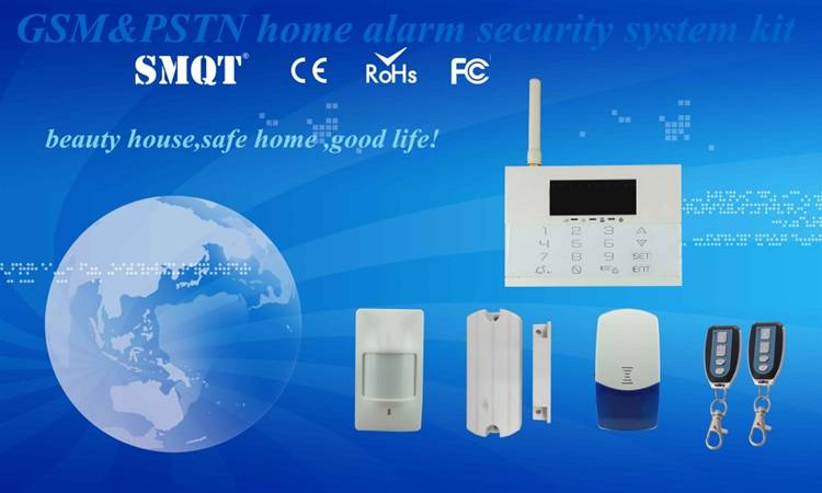 Smart wireless gsm  home security system kit