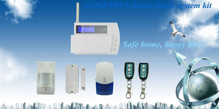 Smart wireless GSM&PSTN home security system kit